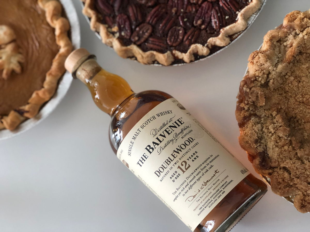 Balvenie whisky and thanksgiving pie