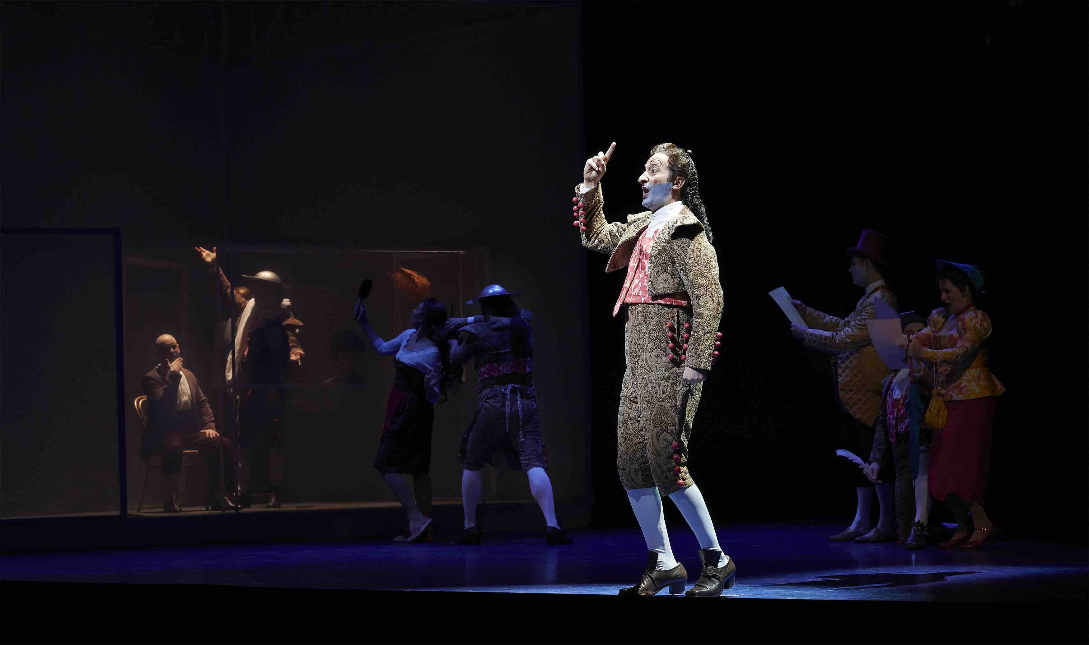 Vito Priante as Figaro in the Canadian Opera Company's production of The Barber of Seville