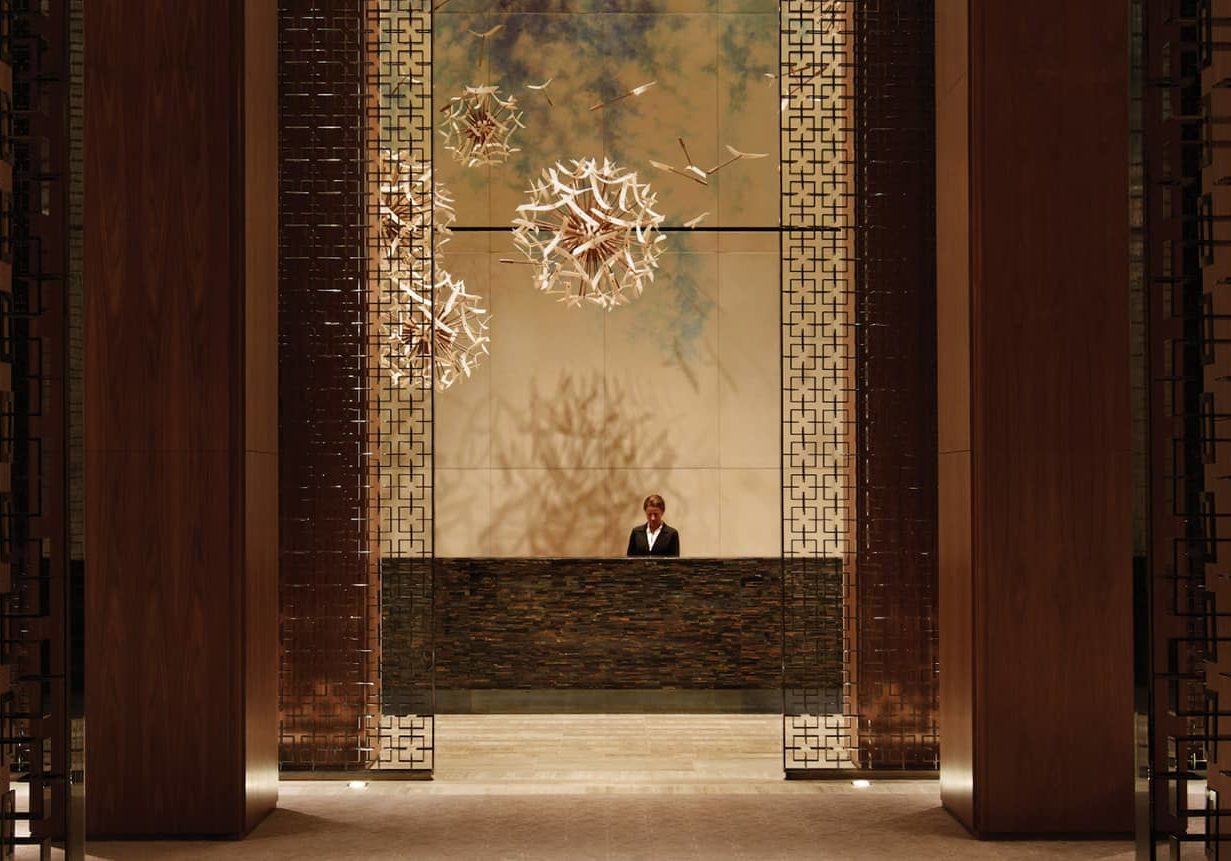 The Four Seasons Residences lobby